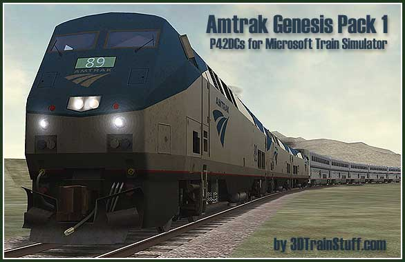 Amtrak Genesis Pack 1 a microsoft train simulator addon